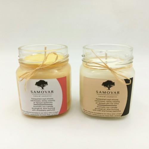 Αρωματικό κερί σόγιας σε γυάλινο βάζο