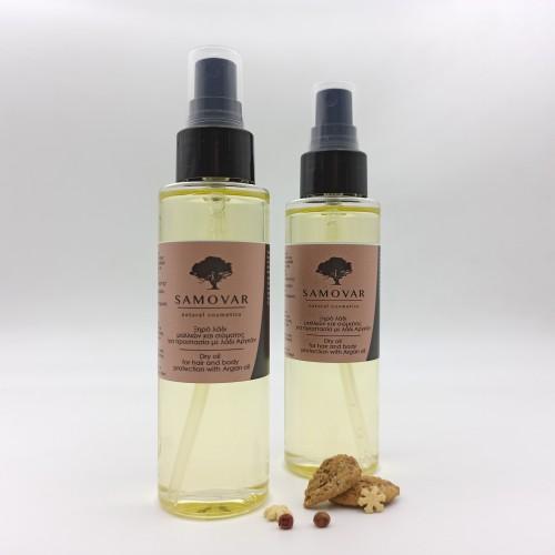Ξηρό λάδι μαλλιών και σώματος για προστασία με λάδι αργκάν