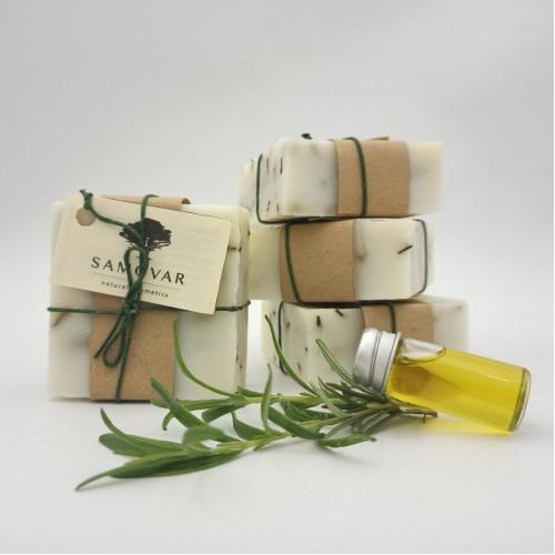 Σαπούνι απαλής απολέπισης και τόνωσης με φύκια και δενδρολίβανο