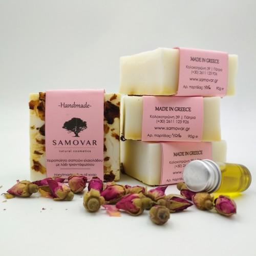 Ενυδατικό σαπούνι με έλαιο τριαντάφυλλου